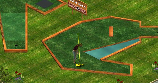 Putt it in the garden park Screenshot